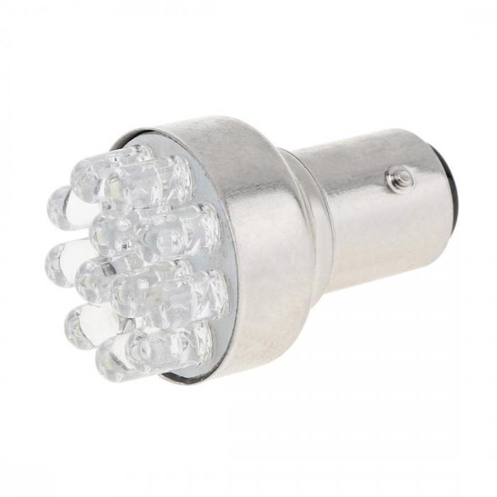 Λάμπα Led στόπ  1157 P21/5W White 12Led led-1157