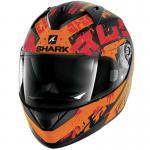 Κράνος Shark Ridill Kengal Matt Black-Orange-Red KOR