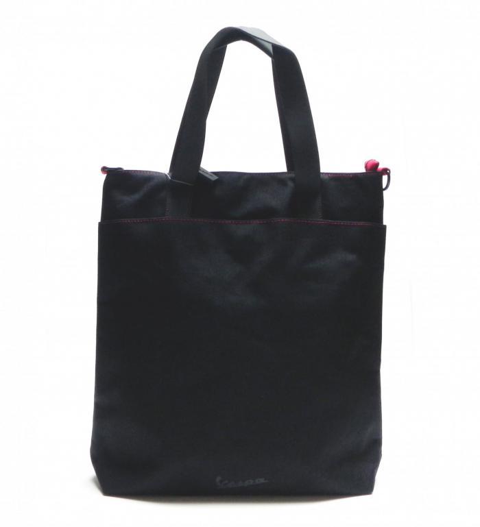 Vespa Τσάντα Σχέδιο Tote Μαύρο