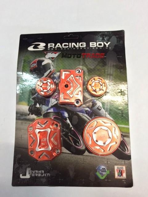 Καπακια κεφαλης Honda Astrea RCB (RACING BOY) πορτοκ