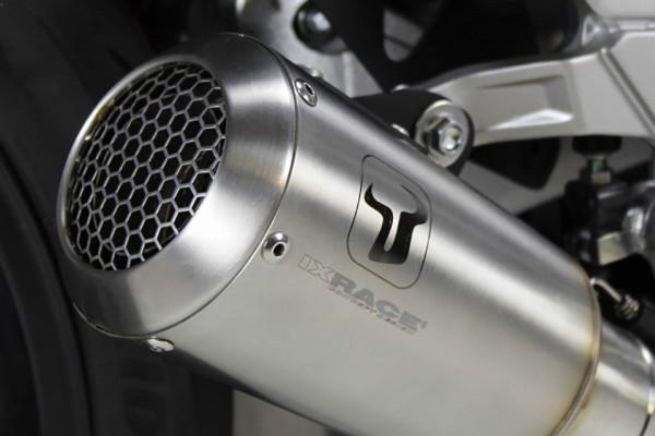 IXrace MK2 τελικό εξάτμισης Honda CB 1000 R, 18- (Euro 4) στρογγυλό ασημί