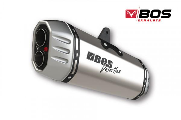 Bos Exhausts Bos Desert Fox τελικό εξάτμισης Suzuki V-Strom 1000 2014- ασημί