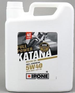 Συνθετικό λάδι κινητήρα Ipone 5W-40 Full Power Katana, 4 λίτρο